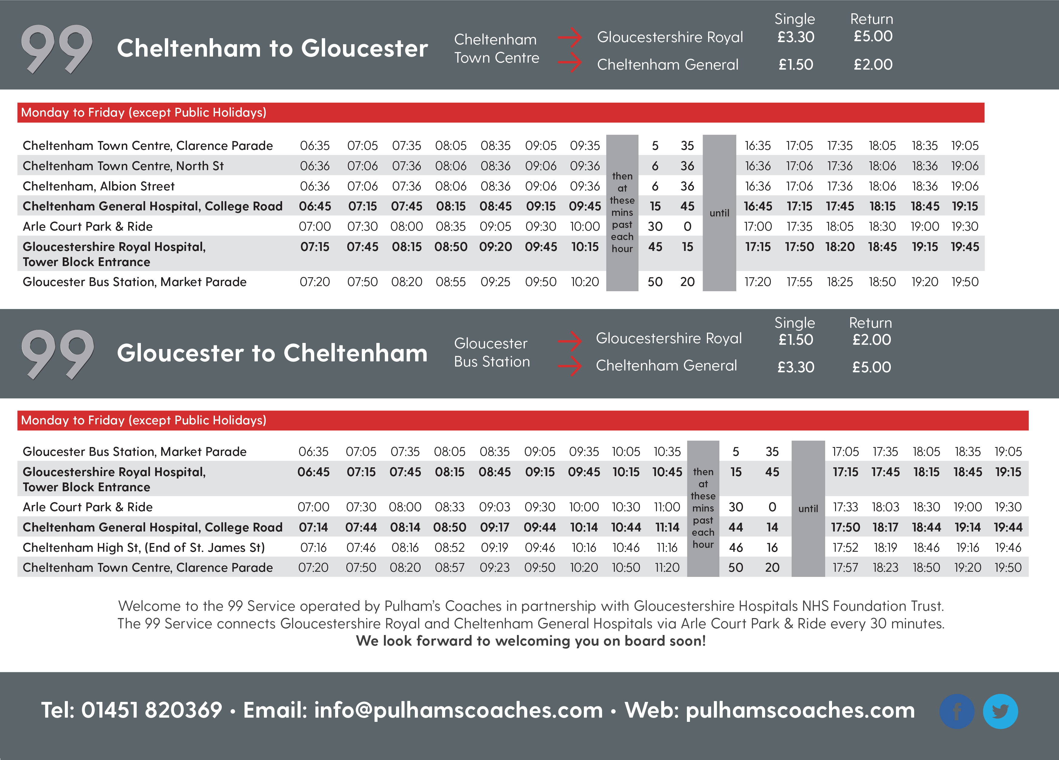 View The 99 Bus Timetable