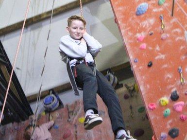 Cody - climbing wall