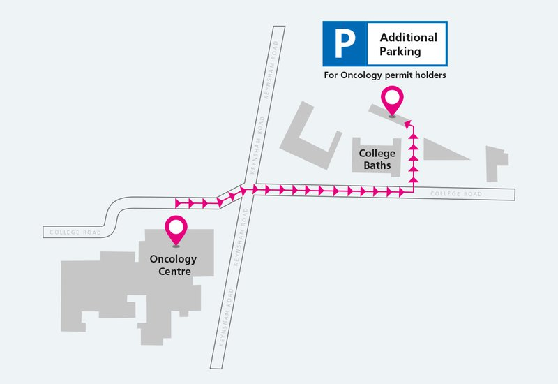 Changes to the location of oncology car park due to site works